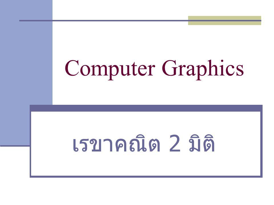 Computer Graphics เรขาคณิต 2 มิติ 1