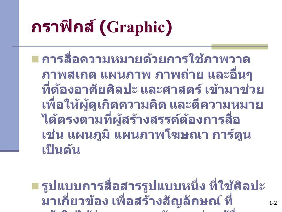 กราฟิกส์ (Graphic)