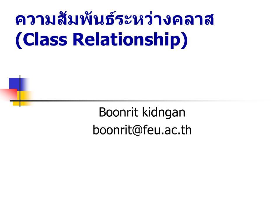 ความสัมพันธ์ระหว่างคลาส (Class Relationship)
