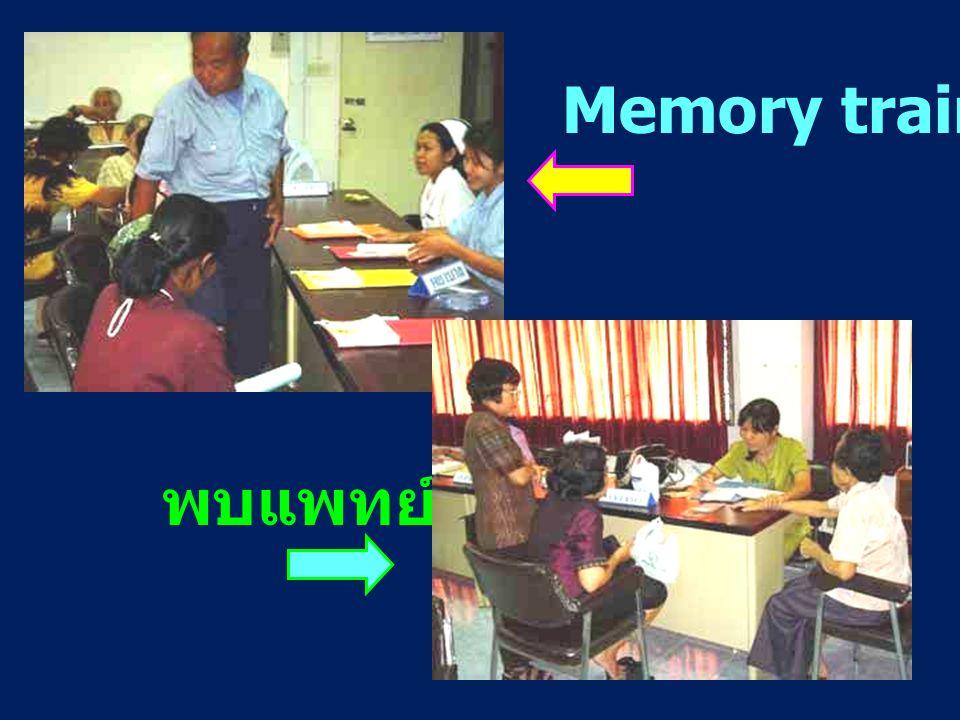 Memory training พบแพทย์