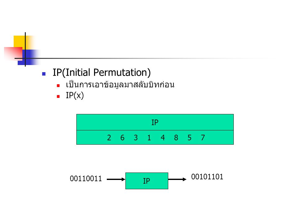 IP(Initial Permutation)