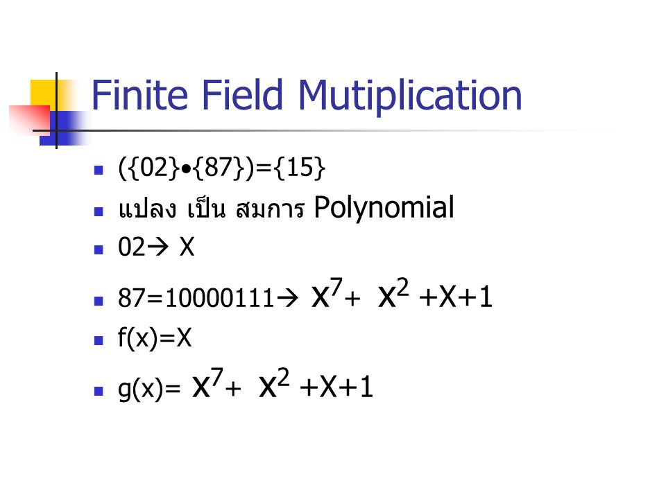 Finite Field Mutiplication