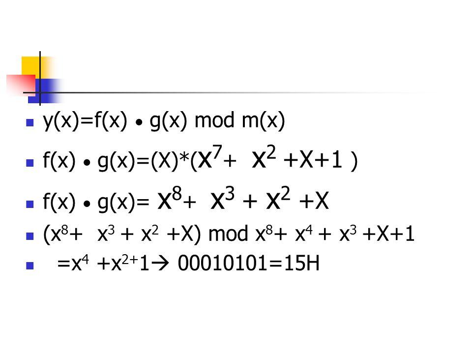 y(x)=f(x)  g(x) mod m(x)