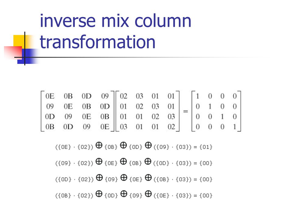 inverse mix column transformation