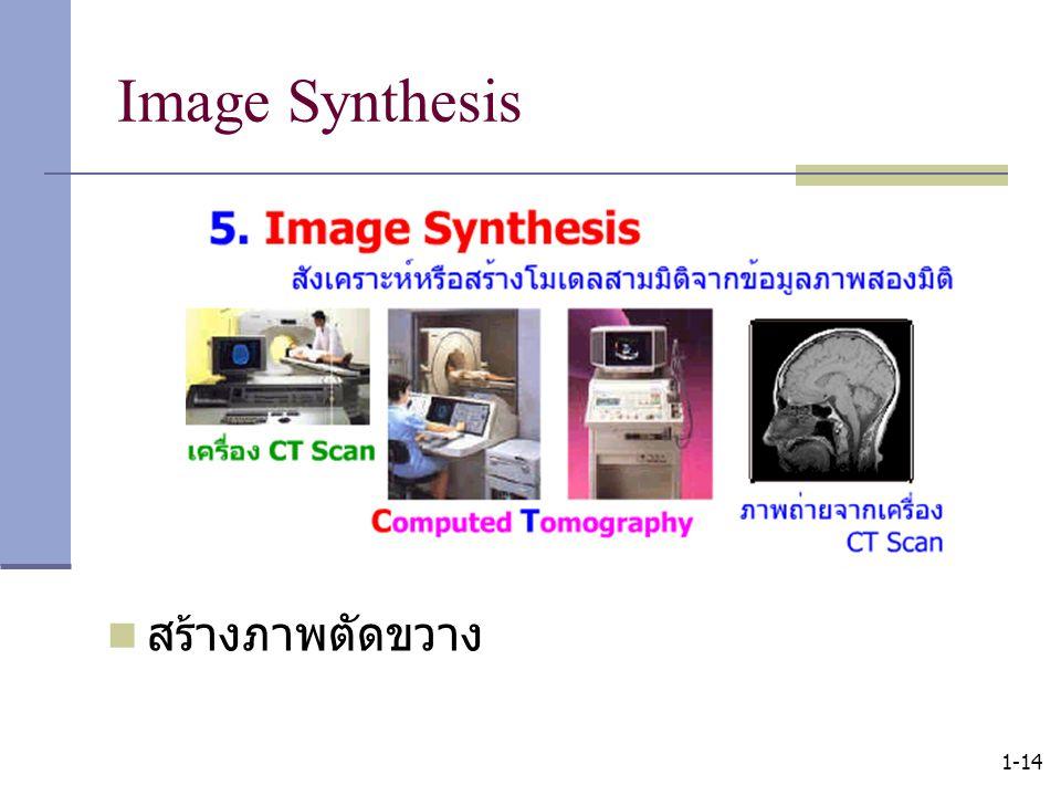 Image Synthesis สร้างภาพตัดขวาง 1