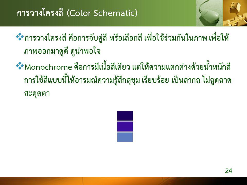 การวางโครงสี (Color Schematic)