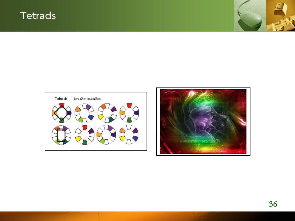 Tetrads ตัวอย่างการออกแบบโดยเลือกใช้โครงสี 4 สี