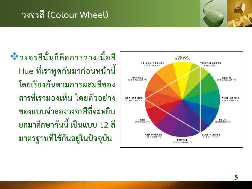 วงจรสี (Colour Wheel)
