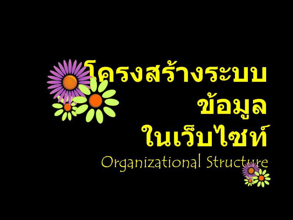 โครงสร้างระบบข้อมูล ในเว็บไซท์ Organizational Structure