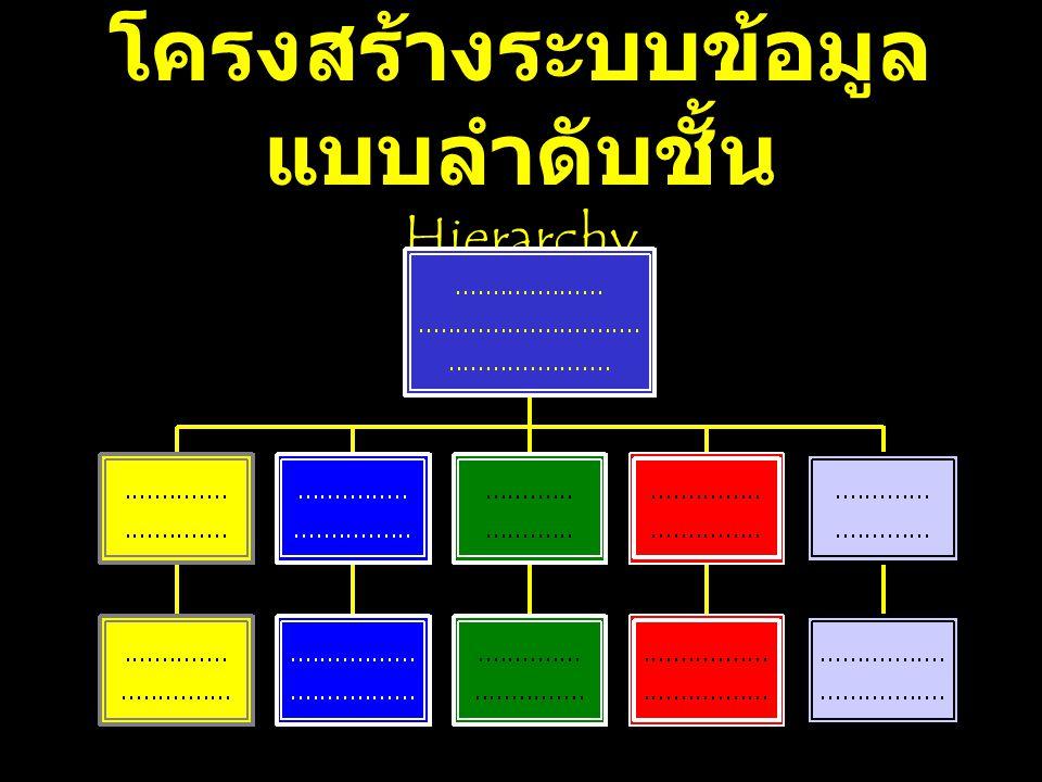 โครงสร้างระบบข้อมูลแบบลำดับชั้น Hierarchy