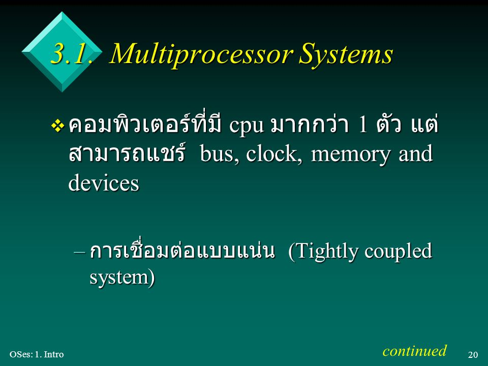 3.1. Multiprocessor Systems