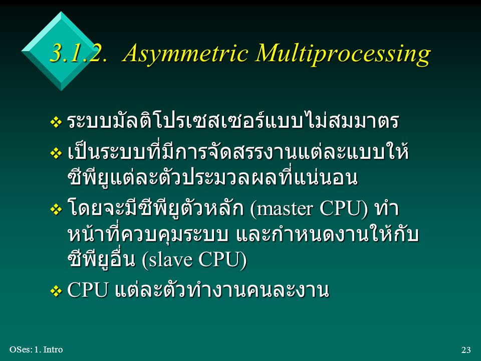 3.1.2. Asymmetric Multiprocessing
