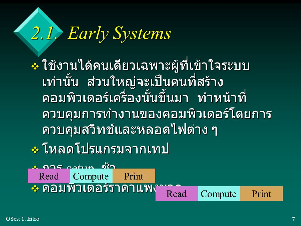2.1. Early Systems
