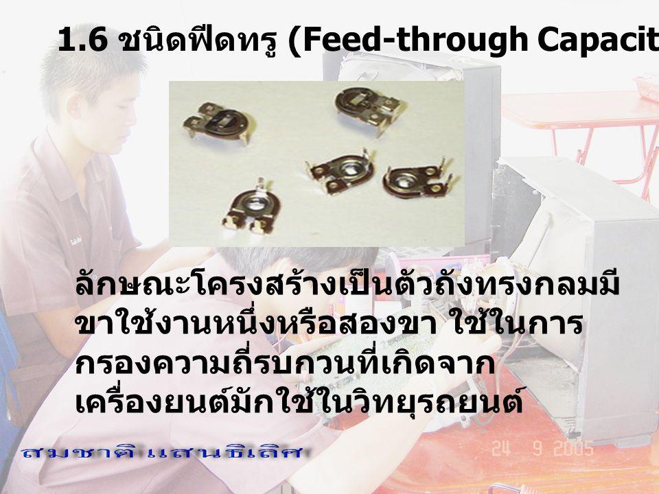 1.6 ชนิดฟีดทรู (Feed-through Capacitor)
