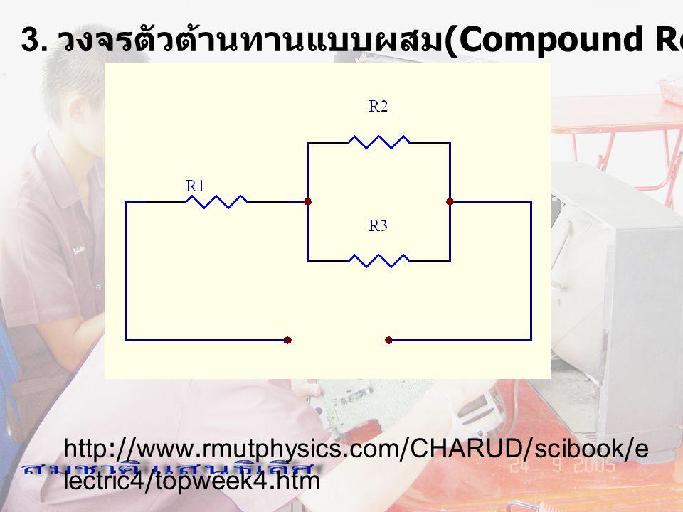 3. วงจรตัวต้านทานแบบผสม(Compound Resistor Circuit)