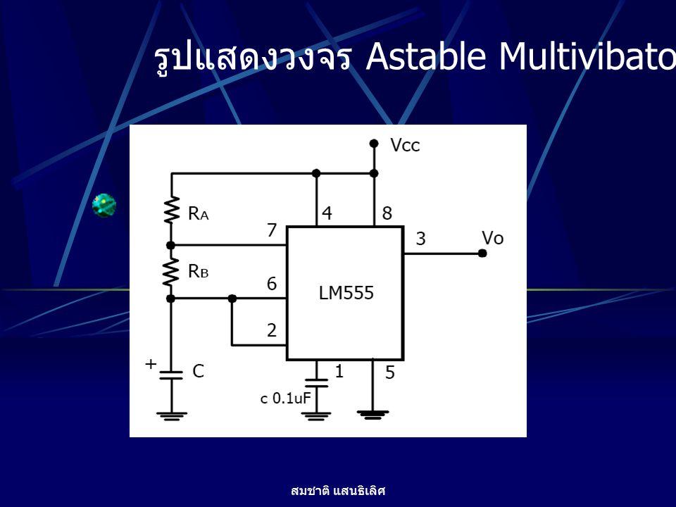 รูปแสดงวงจร Astable Multivibator