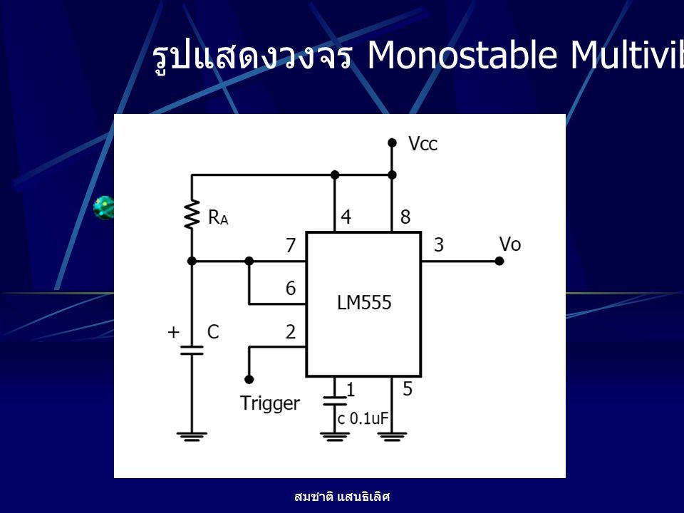 รูปแสดงวงจร Monostable Multivibator