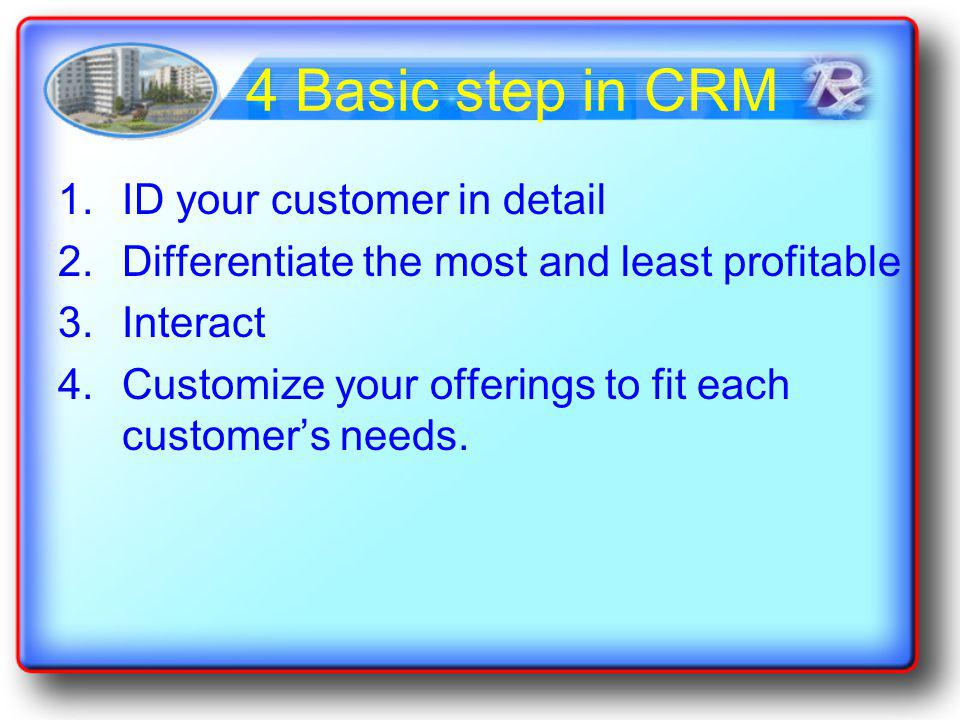 4 Basic step in CRM ID your customer in detail