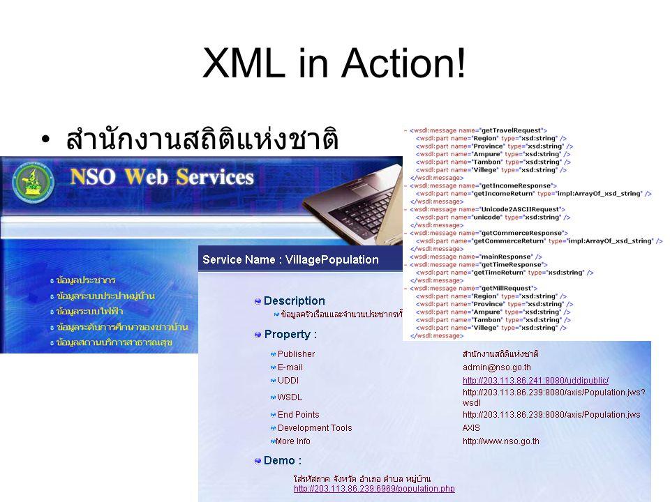 XML in Action! สำนักงานสถิติแห่งชาติ