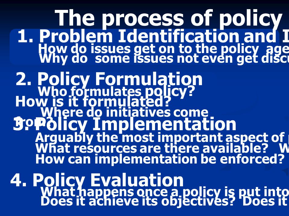 The process of policy making