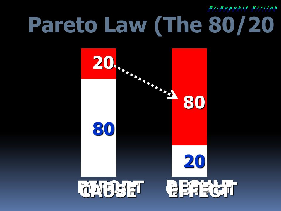 Pareto Law (The 80/20 Principal)
