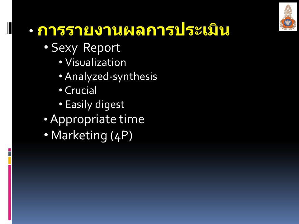 การรายงานผลการประเมิน Sexy Report