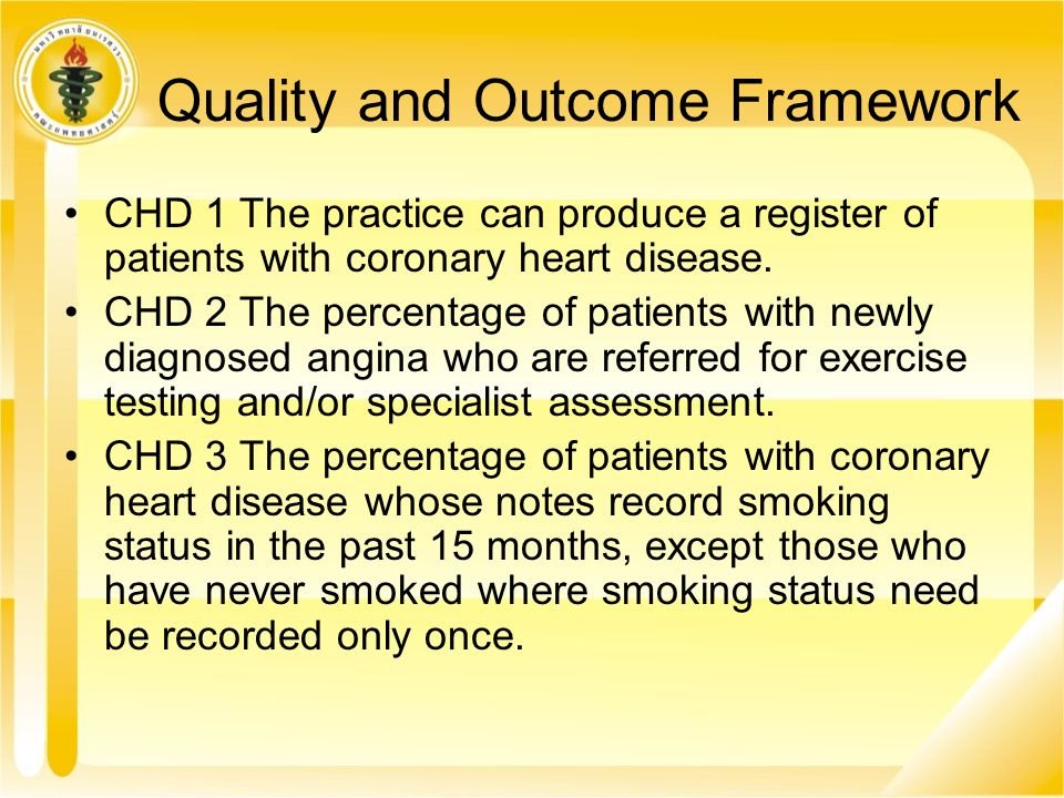 Quality and Outcome Framework