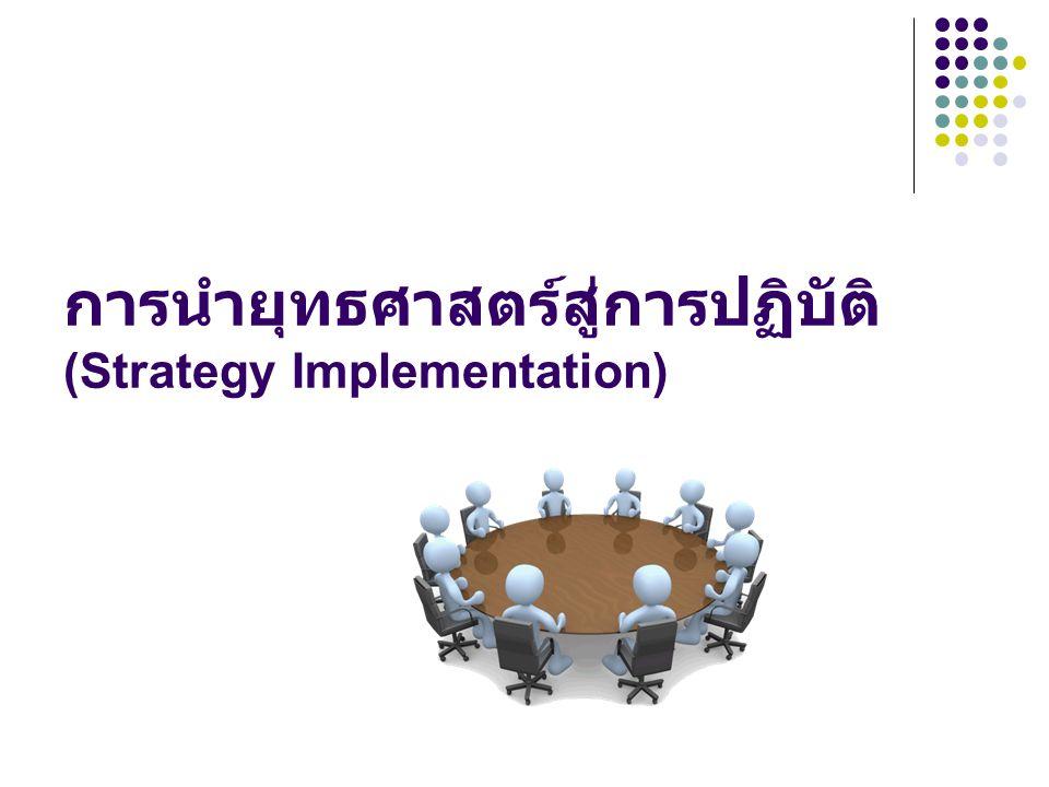 การนำยุทธศาสตร์สู่การปฏิบัติ (Strategy Implementation)