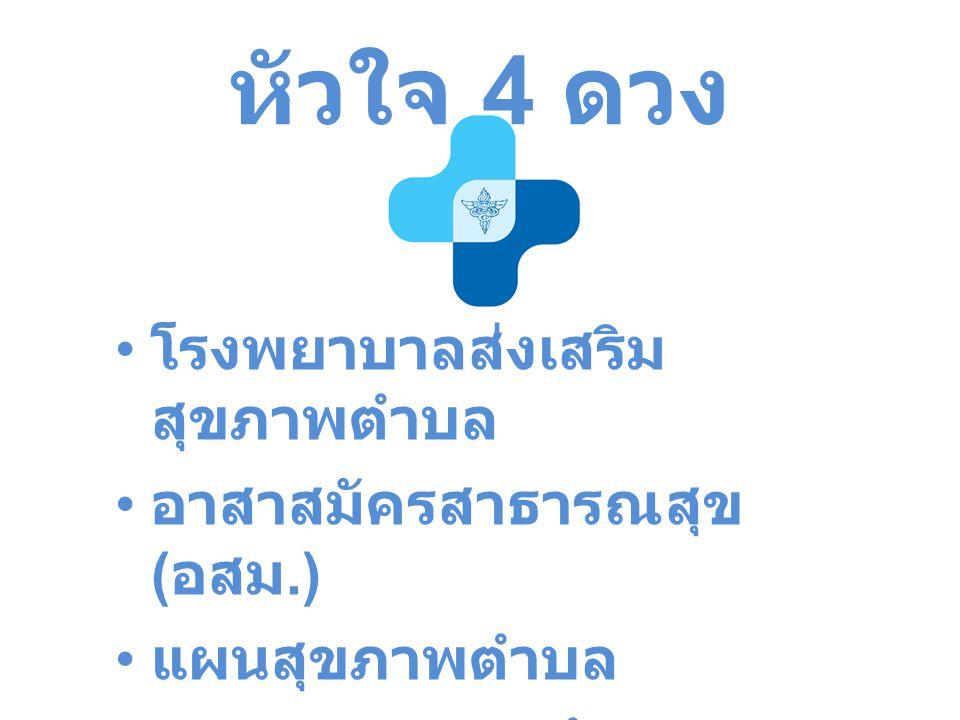 หัวใจ 4 ดวง โรงพยาบาลส่งเสริมสุขภาพตำบล อาสาสมัครสาธารณสุข (อสม.)