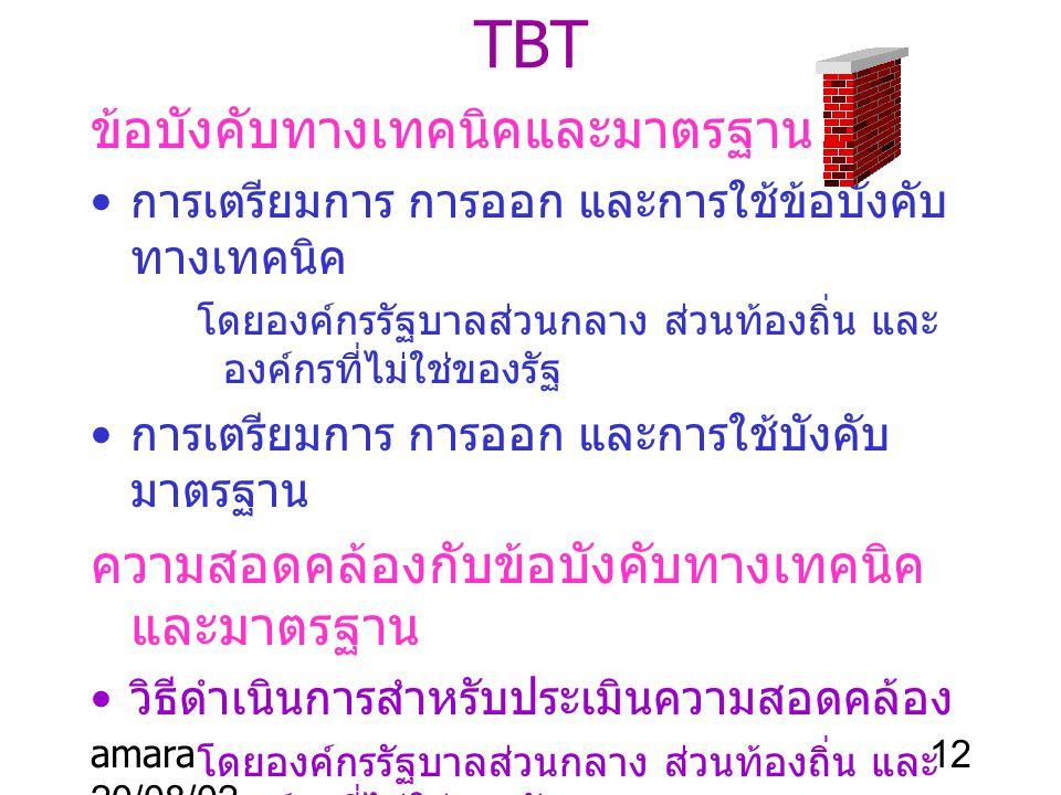 TBT ข้อบังคับทางเทคนิคและมาตรฐาน