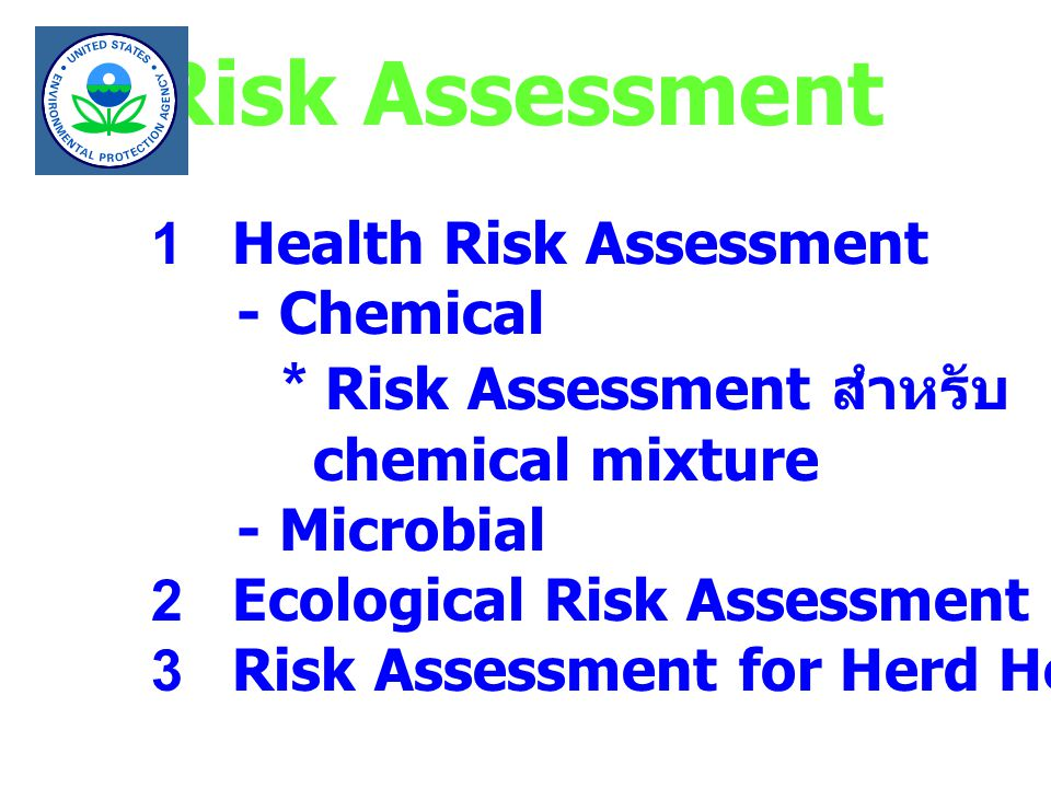 Risk Assessment 1 Health Risk Assessment - Chemical