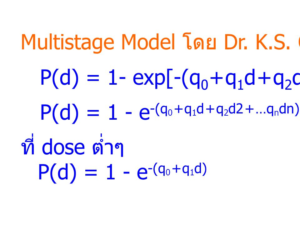Multistage Model โดย Dr. K.S. Crump