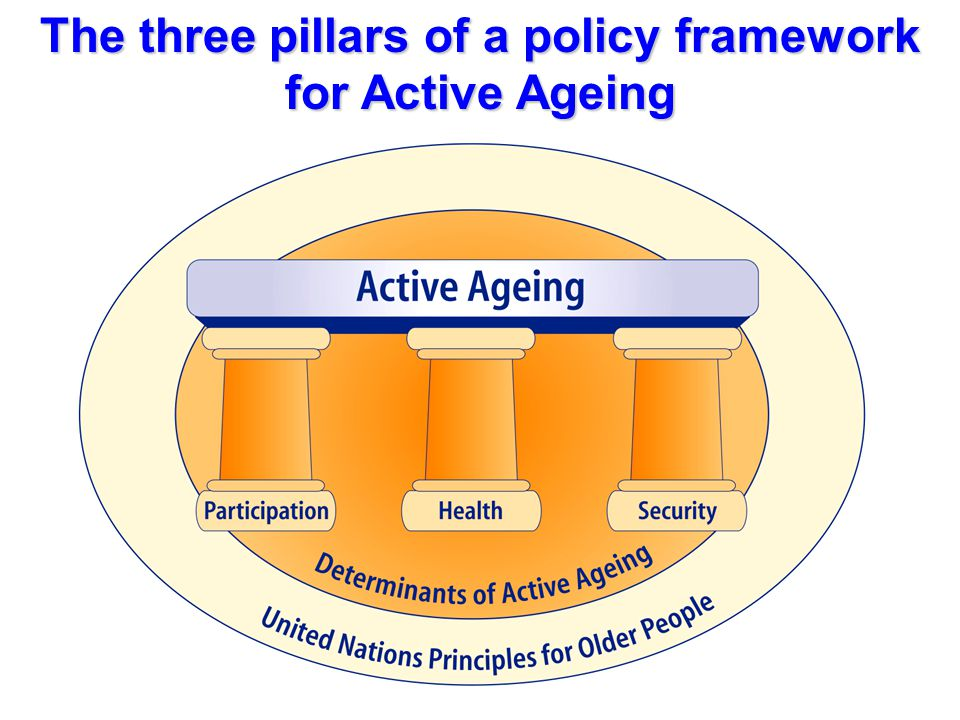 The three pillars of a policy framework for Active Ageing