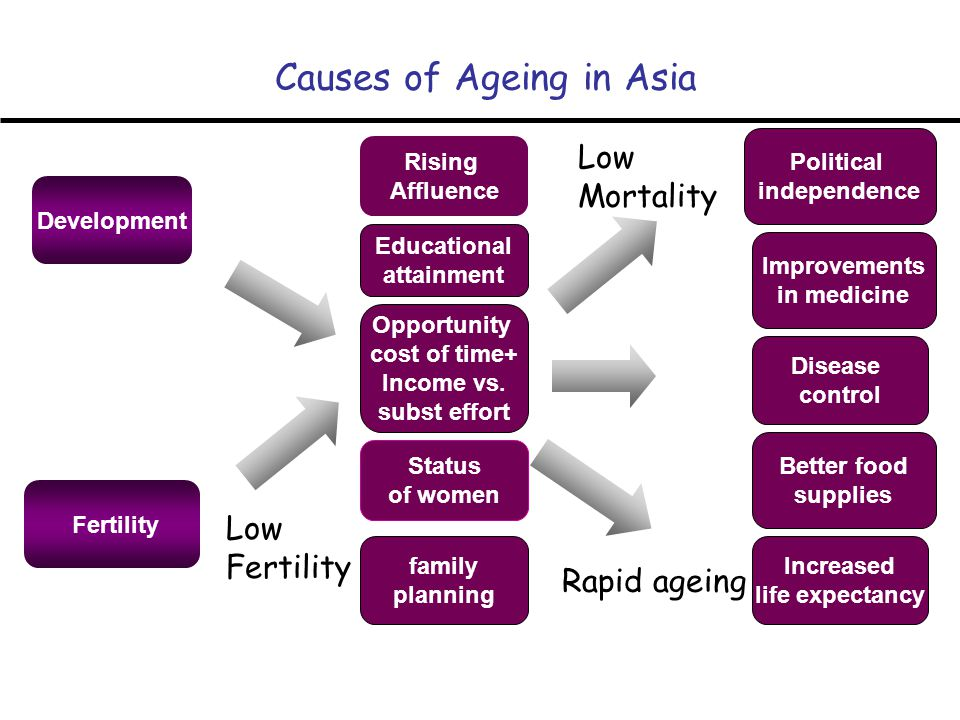 Causes of Ageing in Asia