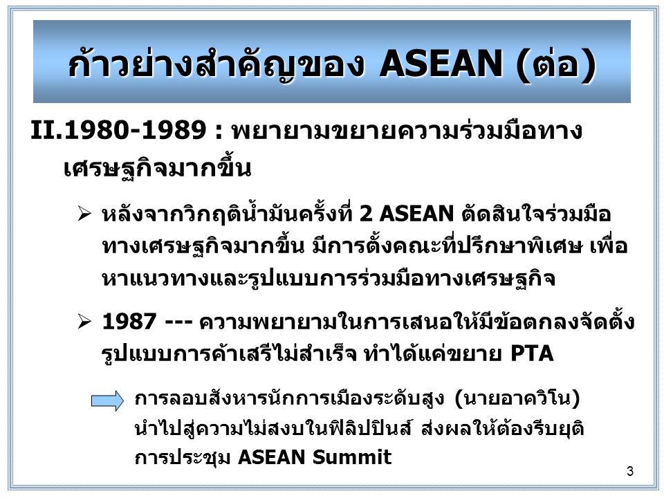 ก้าวย่างสำคัญของ ASEAN (ต่อ)
