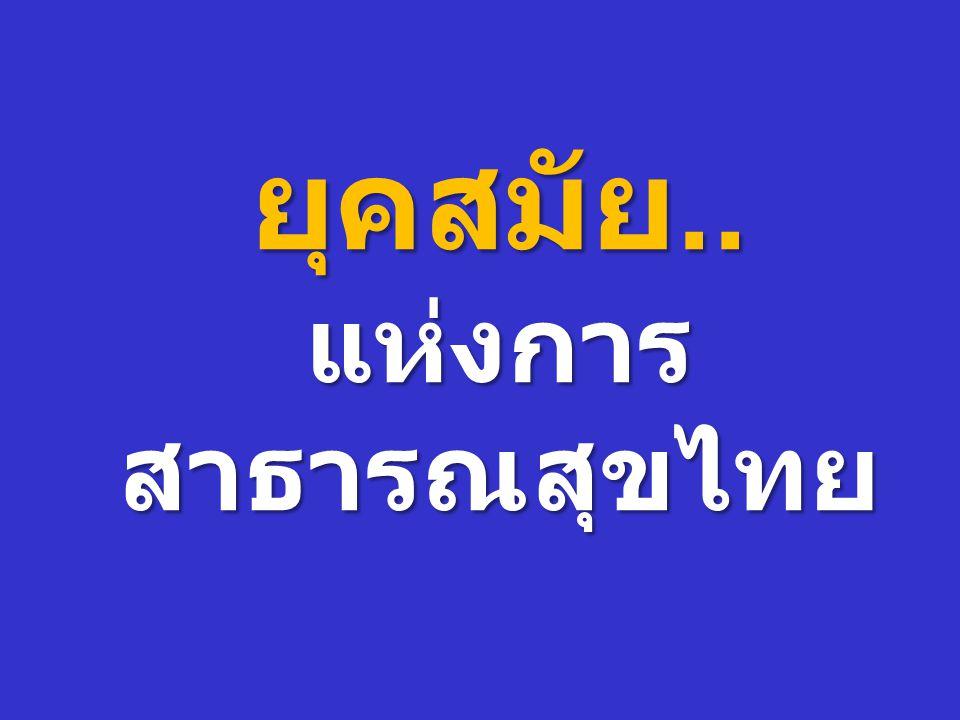 ยุคสมัย.. แห่งการสาธารณสุขไทย