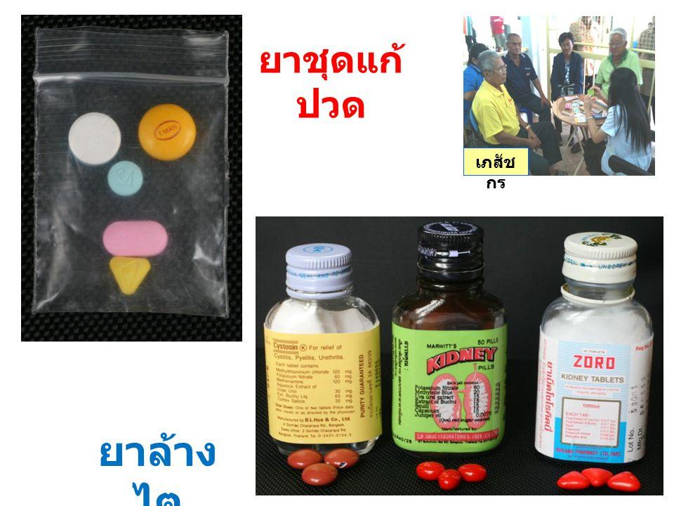 ยาชุดแก้ปวด เภสัชกร ยาล้างไต