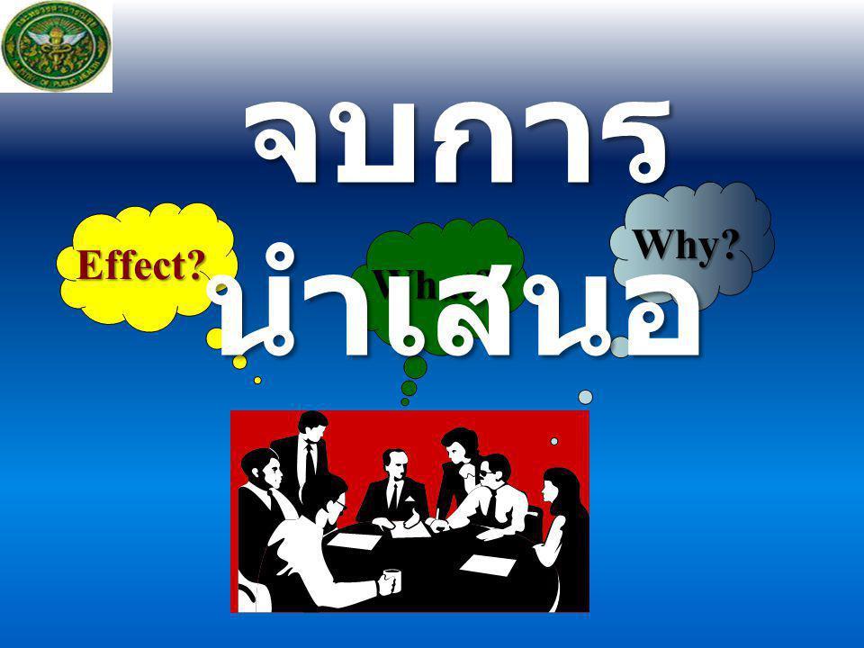 จบการนำเสนอ Why Effect What