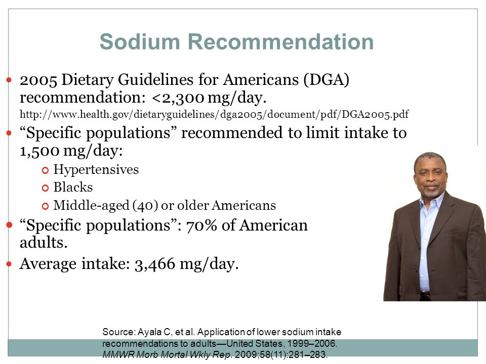 Sodium Recommendation