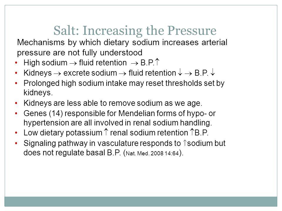 Salt: Increasing the Pressure