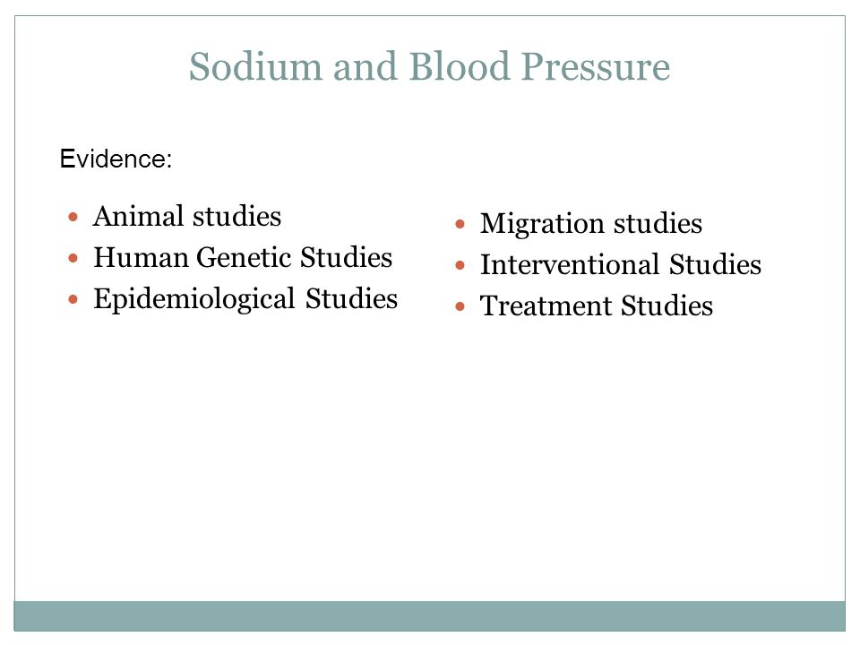 Sodium and Blood Pressure