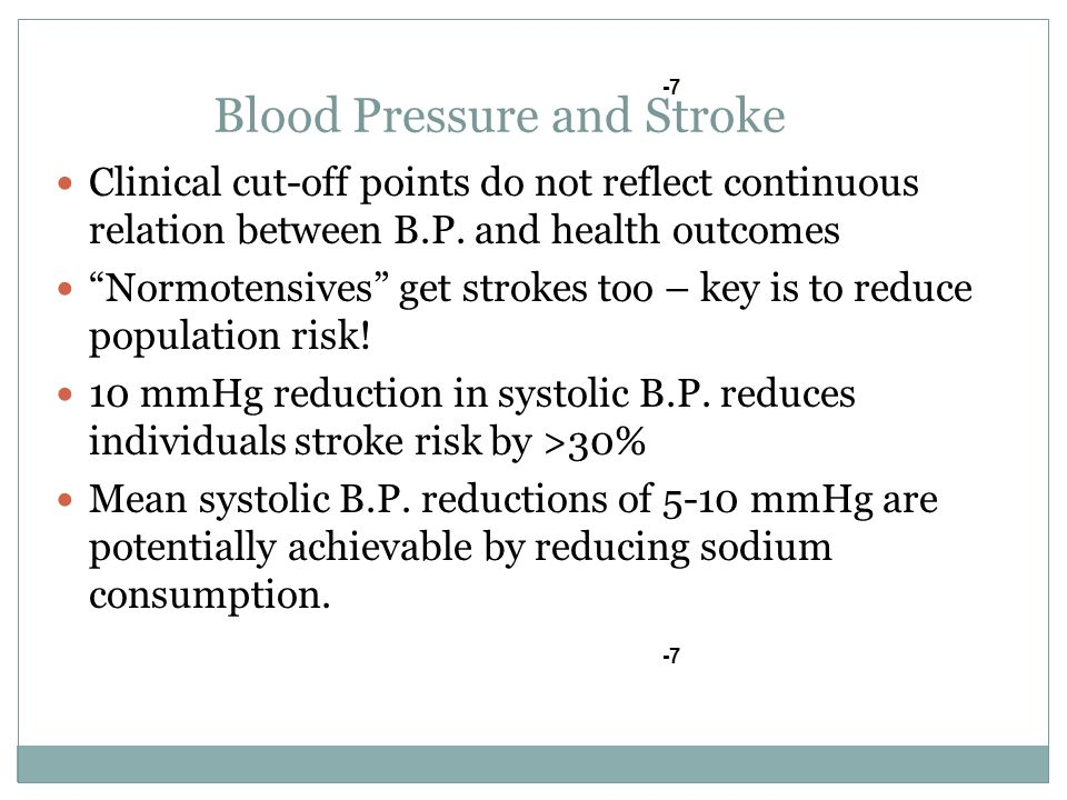 Blood Pressure and Stroke