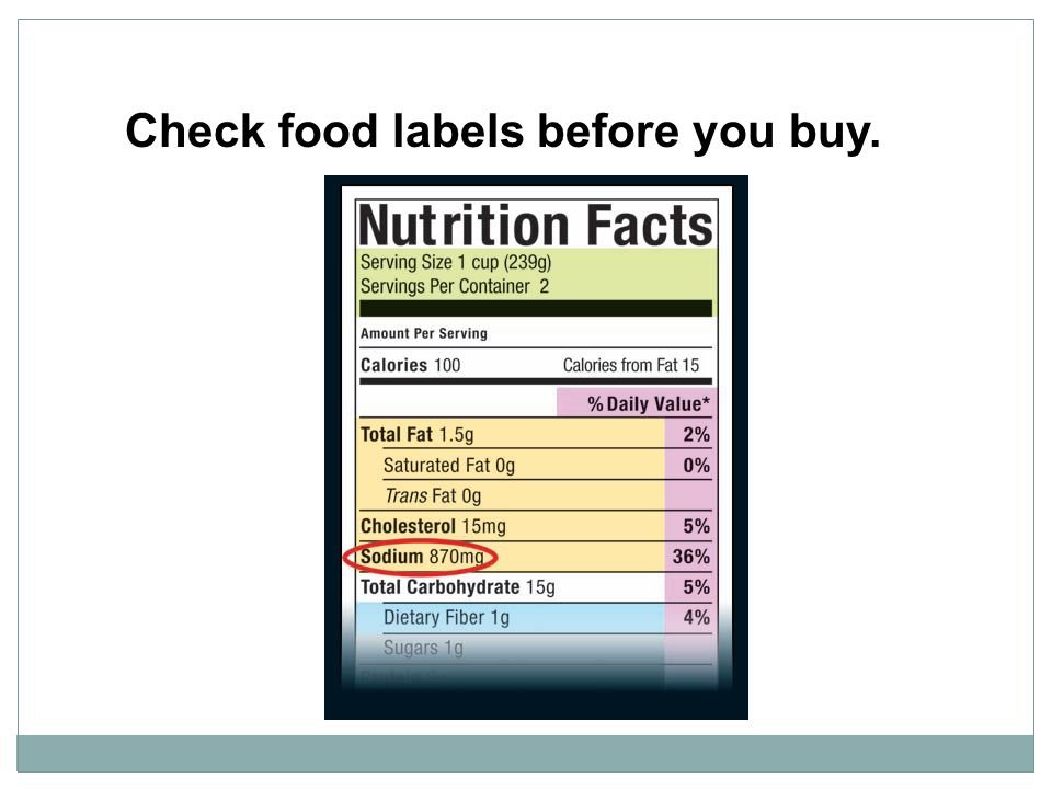 Check food labels before you buy.