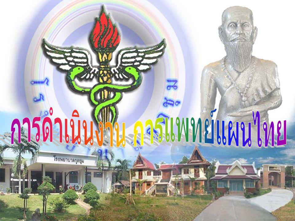 การดำเนินงาน การแพทย์แผนไทย