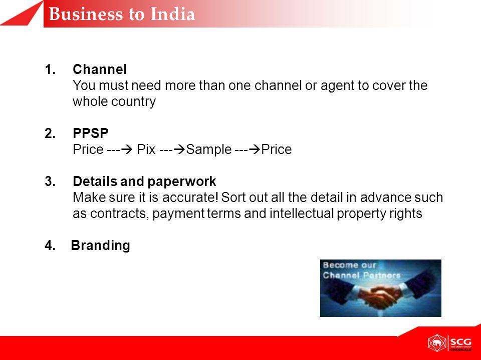 Business to India Channel