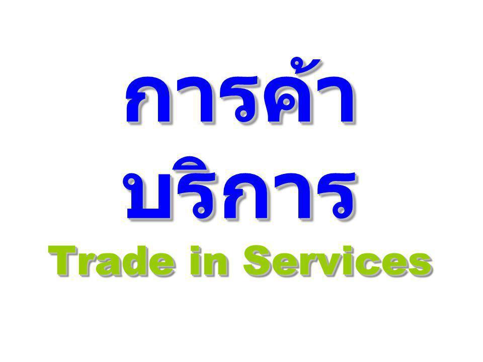 การค้าบริการ Trade in Services