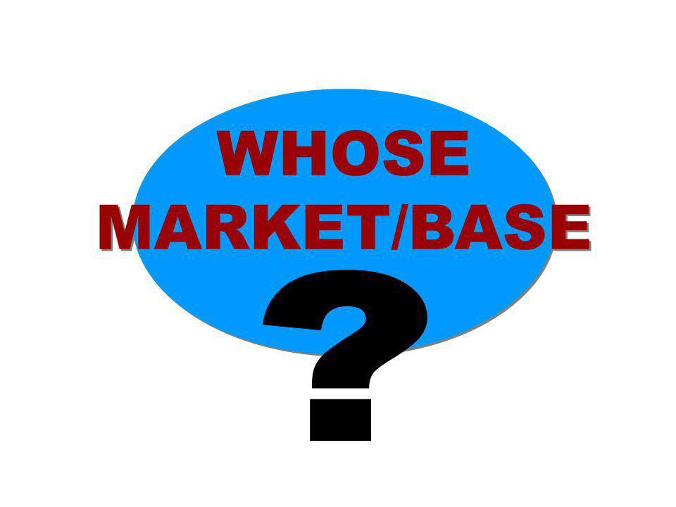 WHOSE MARKET/BASE