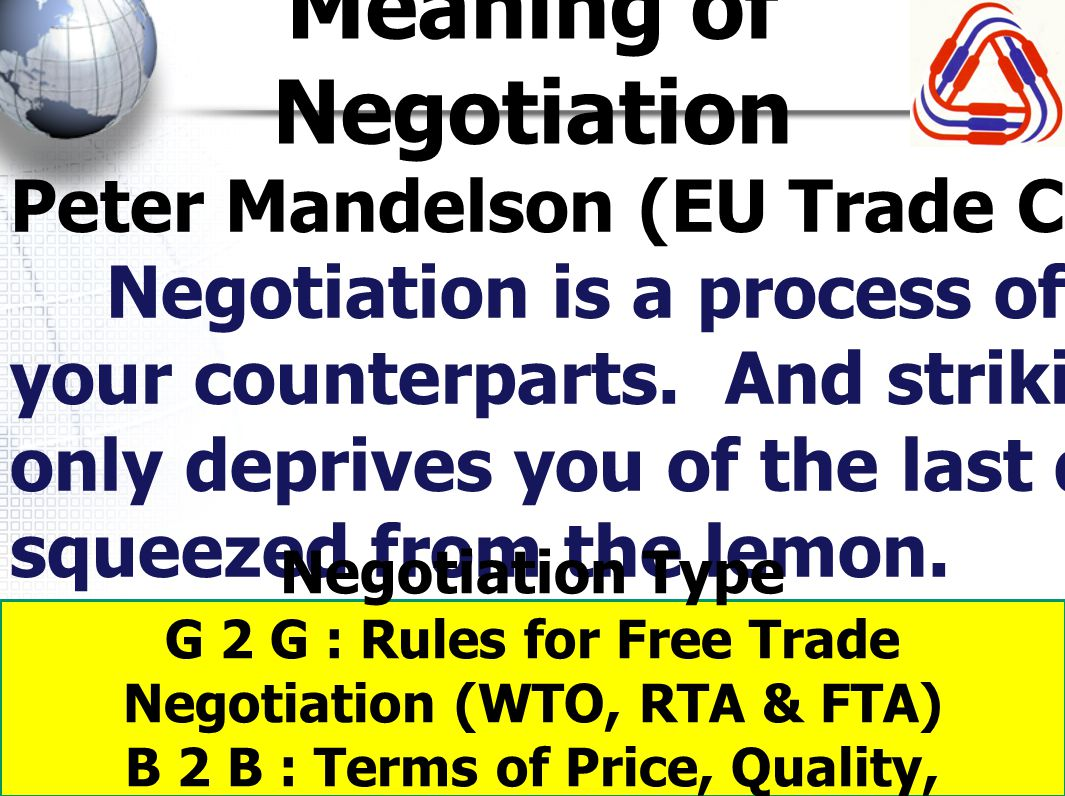 Meaning of Negotiation
