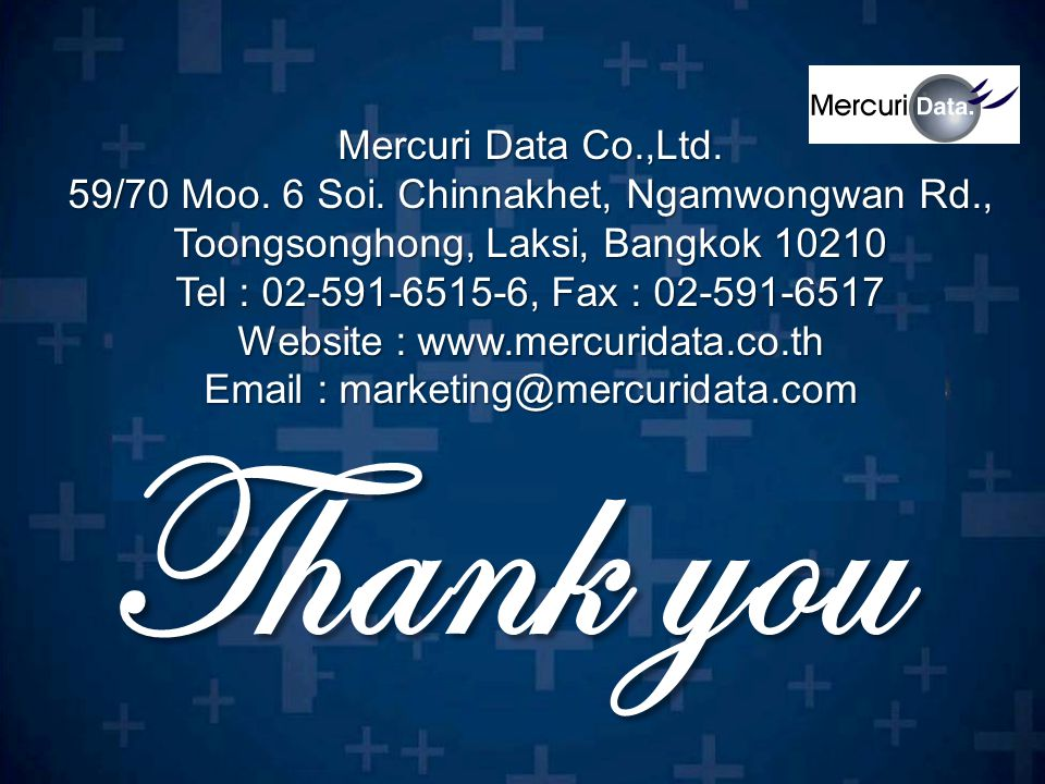 Thank you Mercuri Data Co.,Ltd.