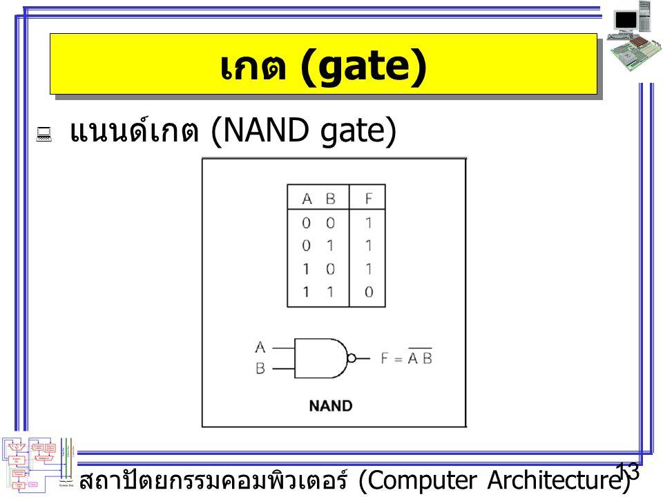 เกต (gate) แนนด์เกต (NAND gate)